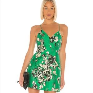Alice + Olivia Tayla Lantern Dress Kelly Green